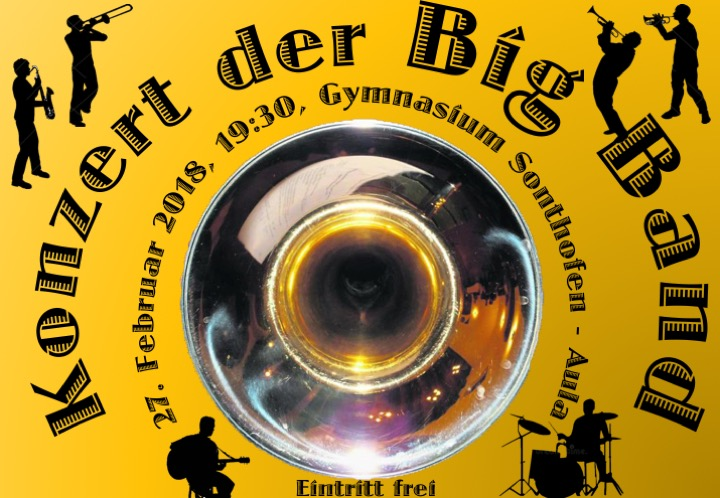 Plakat Big Band Konzert 2018